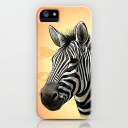 African Zebra iPhone Case