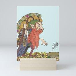 Gold Seeker Leprechaun Mini Art Print