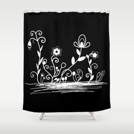 Floral (inverted) Shower Curtain