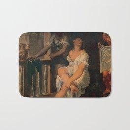 Domenico Riccio - Bathsheba at her bath Bath Mat