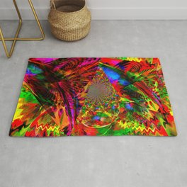 Psychedelic Kites From Another Dimension Rug