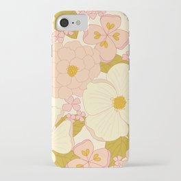 Pink Pastel Vintage Floral Pattern iPhone Case