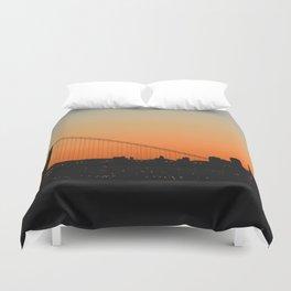 City Silhouette Duvet Cover