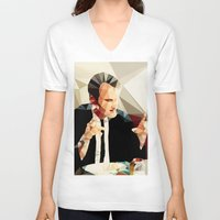 reservoir dogs V-neck T-shirts featuring Quentin Tarantino // Reservoir Dogs by VIVA LA GRAPH!
