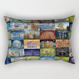 Super Collage - House Rectangular Pillow