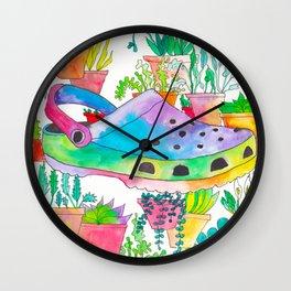 Croc in the Wild Wall Clock