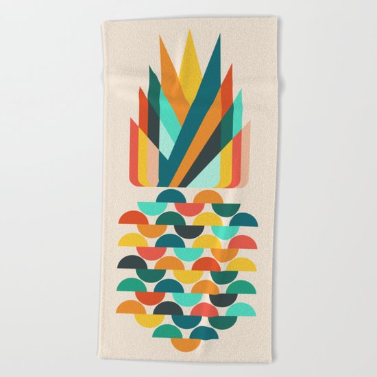 Groovy Pineapple Beach Towel