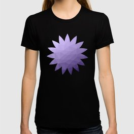 Ultra violet purple geometric mesh T-shirt