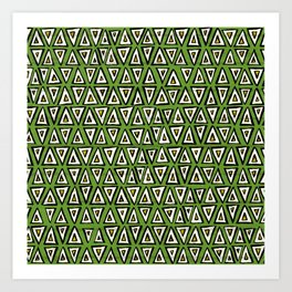 shakal green Art Print