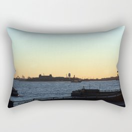 Sunset on the Hudson River Rectangular Pillow