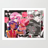 utena Art Prints featuring Utena x Anthy by Neo Crystal Tokyo