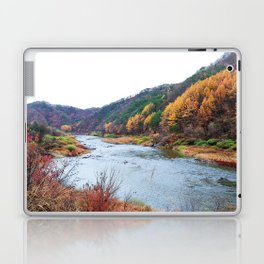 Scenic Fall Nature Lanscape with Stream and Hills Laptop & iPad Skin