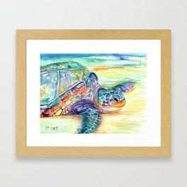 Rainbow Sea Turtle 2 Framed Art Print