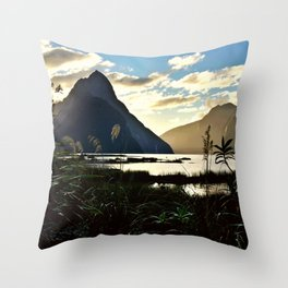 Mountains and Pond (Landscape Photography) Throw Pillow
