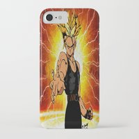 dragonball z iPhone & iPod Cases featuring Dragonball Z Trunks sketch colored by bernardtime