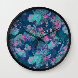 Geometric Floral Wall Clock