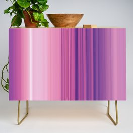 Abstract Vertical Violet and pink stripes Credenza