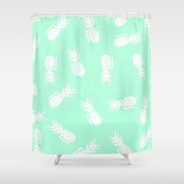 Mint Pineapple Grenade Shower Curtain