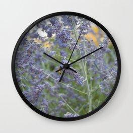 Photobombing Bee Wall Clock