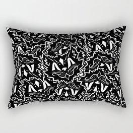 Vintage Black Cat Pattern Rectangular Pillow