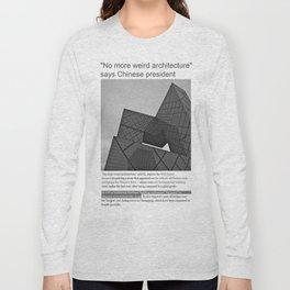 NO MORE WEIRD ACHITECTURE Long Sleeve T-shirt