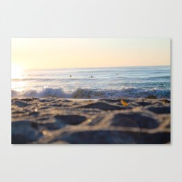 Surfers in the Morning Light Canvas Print