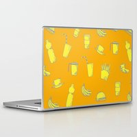 junk food Laptop & iPad Skins featuring Food pattern by Lanka69