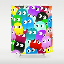 Multicoloured Ghosts Shower Curtain