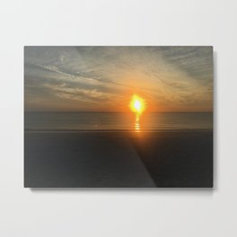 sunset in the funset Metal Print