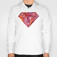 geode Hoodies featuring Million-Carat Ruby by Cat Coquillette
