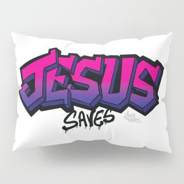 Jesus Saves Graffiti- Pink - Laura Wayne Design Pillow Sham