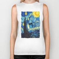 starry night Biker Tanks featuring STARRY by MiliarderBrown