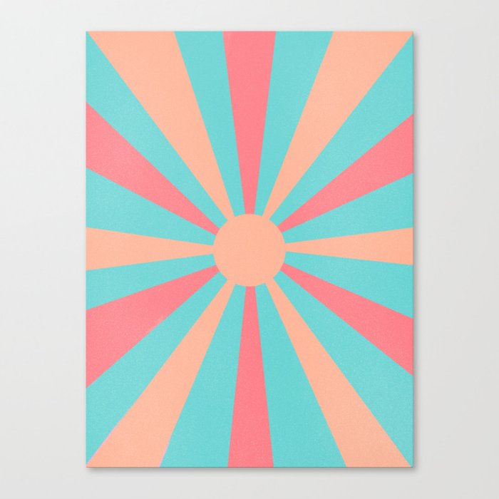 pink and peach sunshine Canvas Print