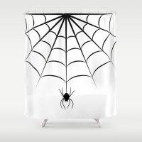 spider Shower Curtains featuring Spider by haroulita