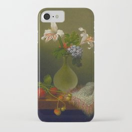 A Vase Of Corn Lilies And Heliotrope 1863 By Martin Johnson Heade | Reproduction iPhone Case