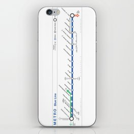 Twin Cities METRO Blue Line Map iPhone Skin