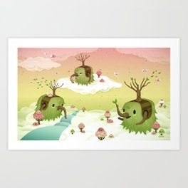 Mossiphants Art Print