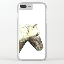 Horse Profile Clear iPhone Case
