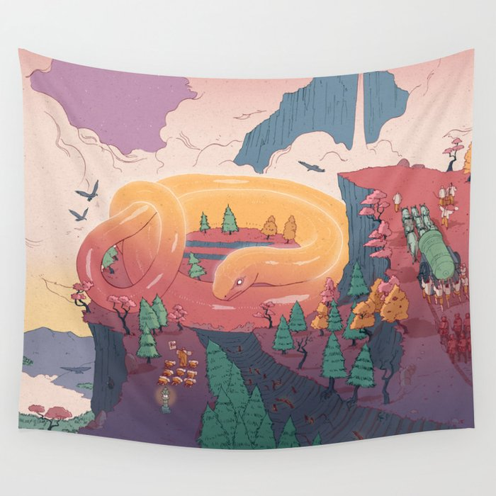 The creature of the mountain Wall Tapestry