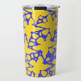 Asymmetry collection: abstract flowers in the water Travel Mug