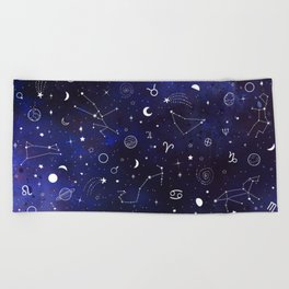 Space pattern Beach Towel