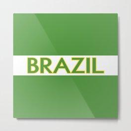 Brazil (Stripe) Metal Print