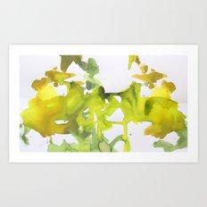 green verede watercolor acuarela Art Print