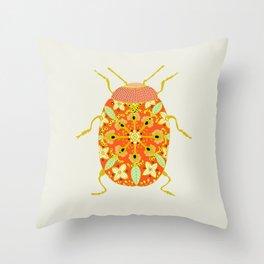scarabée d'amour Throw Pillow