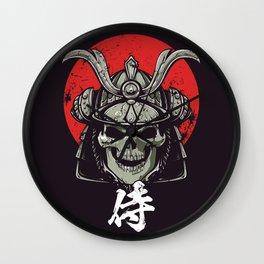 Samurai Skull Wall Clock