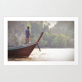 Boatman. Thailand. Art Print