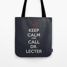 Keep Calm and Call Dr. Lecter Tote Bag