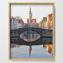 Belgium, City Canal 6 Serving Tray