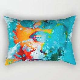 Sana, the colorful woman Rectangular Pillow
