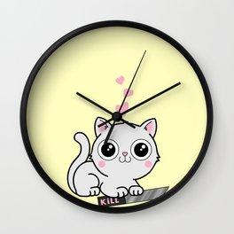 Kitty Hearts Kill - Cats Love Plotting Wall Clock